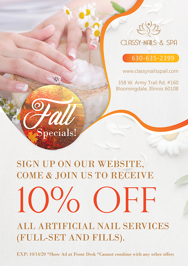 Nail Salon 60108 | Classy Nails & Spa of Bloomingdale